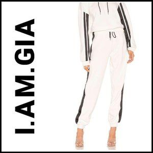 NWT I.AM.GIA Striker Side Stripe Sweat Pants, L